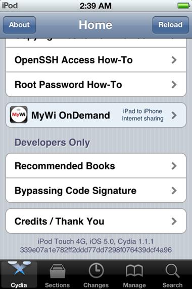 Jailbreak iOS 5 – iPhone 4, 3GS / iPod Touch 4G, 3G / iPad